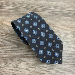 Jos A Bank Black w/ Blue & Gold Check Tie
